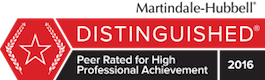 Martindale-Hubbel Distinguished rating